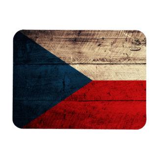Old Wooden Czech Flag Flexible Magnets