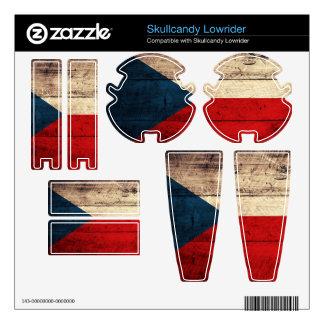 Old Wooden Czech Republic Flag; Skullcandy Lowrider Skins