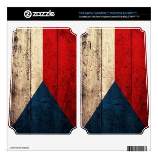 Old Wooden Czech Republic Flag; Turtle Beach X41 Skin