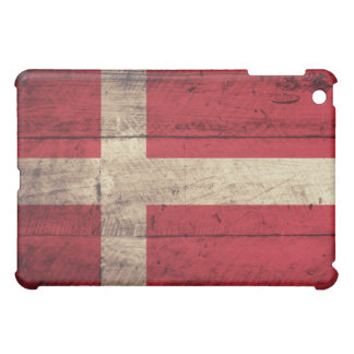 Old Wooden Denmark Flag iPad Mini Covers