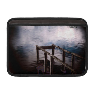Old Wooden Dock Over Water with Mist MacBook Air Sleeve