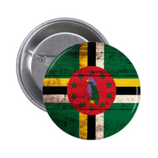 Old Wooden Dominica Flag Pinback Buttons