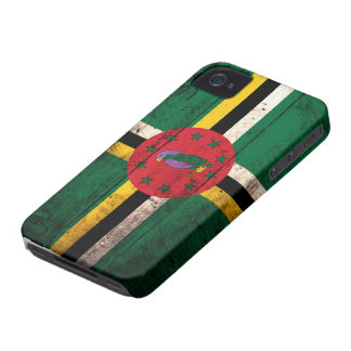 Old Wooden Dominica Flag iPhone 4 Case