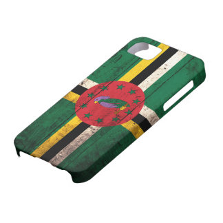 Old Wooden Dominica Flag iPhone SE/5/5s Case