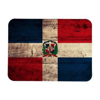 Old Wooden Dominican Republic Flag Flexible Magnet
