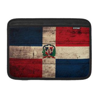 Old Wooden Dominican Republic Flag MacBook Air Sleeves