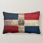 Old Wooden Dominican Republic Flag Pillows
