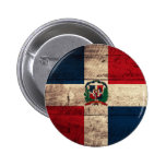 Old Wooden Dominican Republic Flag Pins