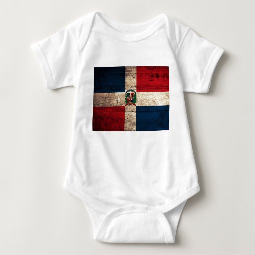 Old Wooden Dominican Republic Flag Shirt