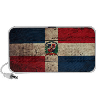 Old Wooden Dominican Republic Flag Travelling Speaker