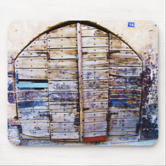 Old  wooden door in Chania Crete, Greece Mousepads