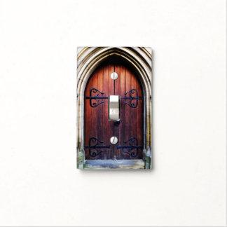 Old Wooden Door Light Switch Cover