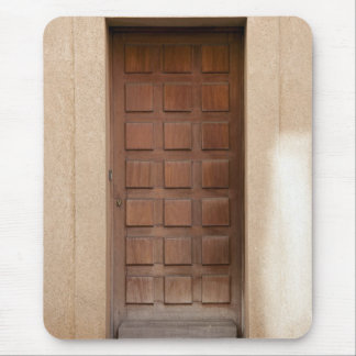 Old Wooden Door Mouse Pad
