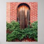 Old wooden door posters