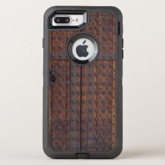 Old Wooden Door With Black Metal Reinforcements OtterBox Defender iPhone 7 Plus Case