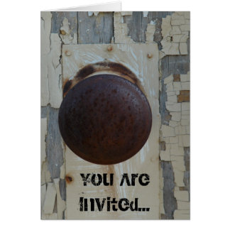 Old Wooden Door, You Are Invited... Card