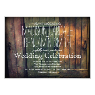 "Old Wooden Doors Rustic Country Wedding Invitation 4.5"" X 6.25"" Invitation Card"