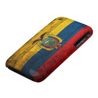 Old Wooden Ecuador Flag Case-Mate iPhone 3 Case