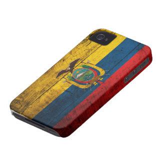 Old Wooden Ecuador Flag iPhone 4 Case-Mate Case