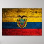 Old Wooden Ecuador Flag Posters