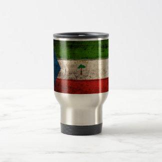 Old Wooden Equatorial Guinea Flag 15 Oz Stainless Steel Travel Mug