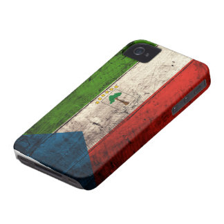 Old Wooden Equatorial Guinea Flag iPhone 4 Case-Mate Case