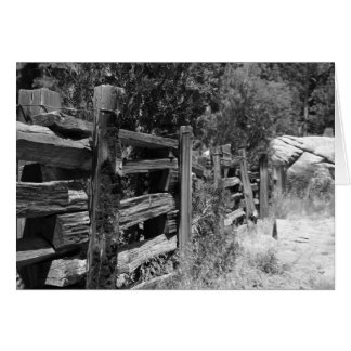 Old Wooden Fence - Blank Greeting Card