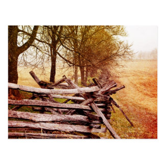 "Old Wooden Fence Postcard "" Antietam Battlefield"""