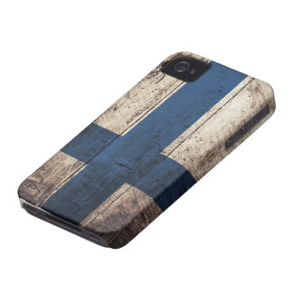 Old Wooden Finland Flag iPhone 4 Case-Mate Cases