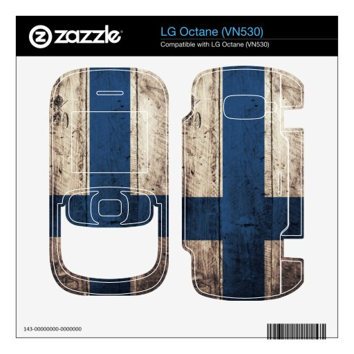 Old Wooden Finland Flag Decal For The LG Octane