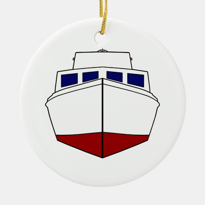 Old Wooden Fishing Boat Cabin Cruiser Ceramic Ornament Zazzle Com