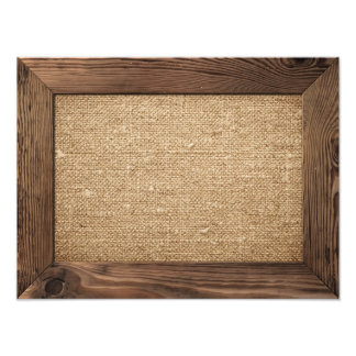 Old Wooden Frame With Cotton Canvas Inside Photo Print