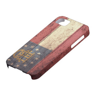 Old Wooden Georgia Flag; iPhone 5 Cases