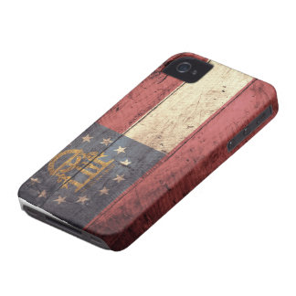 Old Wooden Georgia Flag; iPhone 4 Case-Mate Case