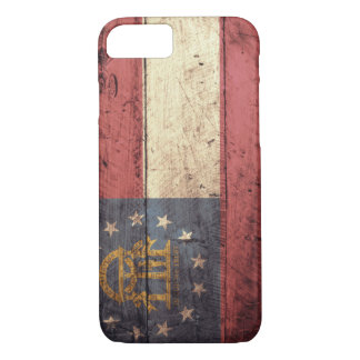 Old Wooden Georgia Flag; iPhone 7 Case
