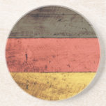 Old Wooden Germany Flag Coaster