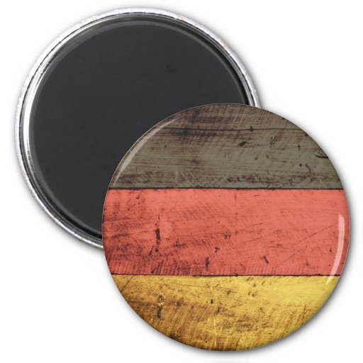 Old Wooden Germany Flag Fridge Magnet