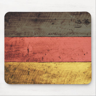 Old Wooden Germany Flag Mouse Pad
