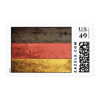 Old Wooden Germany Flag Stamp