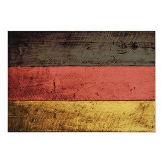 Old Wooden Germany Flag Posters