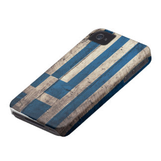 Old Wooden Greece Flag iPhone 4 Case