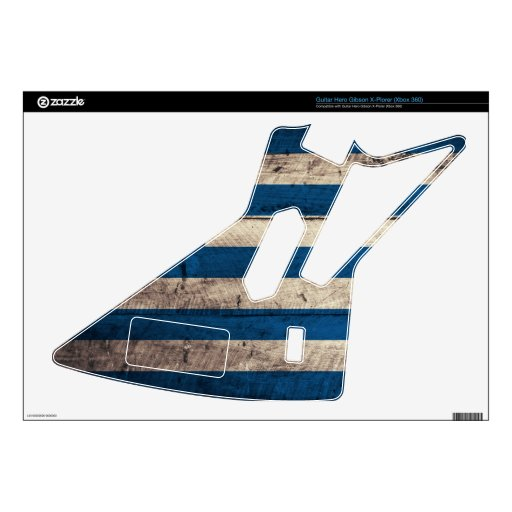 Old Wooden Greece Flag; Skins For Guitar Hero