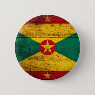 Old Wooden Grenada Flag Pinback Button