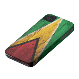 Old Wooden Guyana Flag iPhone 4 Case