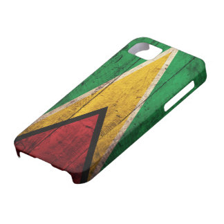 Old Wooden Guyana Flag iPhone SE/5/5s Case