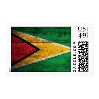Old Wooden Guyana Flag Stamps