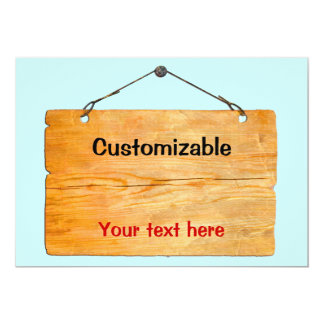 Old Wooden Hanging Sign - Customizable Card