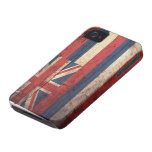 Old Wooden Hawaii Flag; iPhone 4 Cases