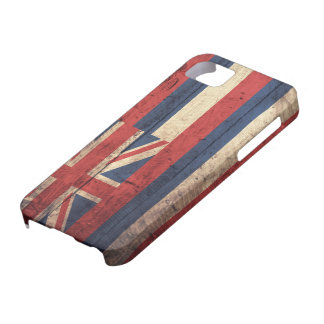 Old Wooden Hawaii Flag; iPhone SE/5/5s Case