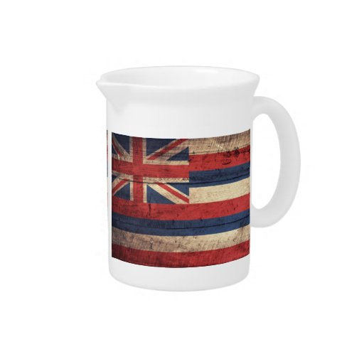 Old Wooden Hawaii Flag; Pitchers
